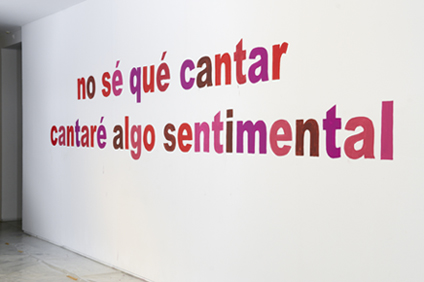 ANNIKA STRÖM. no sé qué cantar... cantaré algo sentimental, 2011, 102 x 698 cm, Pintura mural