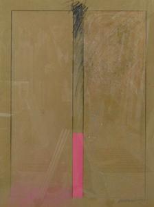 JUAN SUÁREZ. Sin título, 1978. Técnica mixta sobre papel. 80 x 60 cm