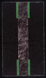 JUAN SUÁREZ. Marismas de lejanías, 1976. Acrílico sobre tela. 195 x 114 cm