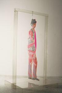 DARÍO VILLALBA. Persona 72, 1972. 230,5 x 135,3 x 120 cm. Moldeado termoplástico, dibujo y pintura acrílica sobre papel y madera