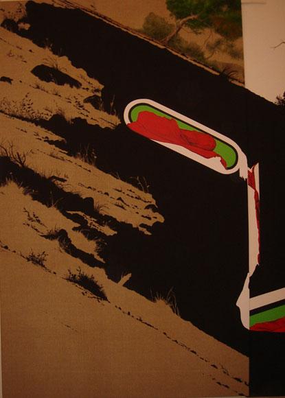 JESÚS ZURITA. La llanura baja I, 2007. 364 x 221,5 cm. Acrílico y pintura plástica sobre lienzo