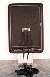 Federico Guzmán. Sampletown (Dibujo de Sampletown), 1991. Técnica mixta. 196 x 137,5 x 4 cm. Colección CAAC, Junta de Andalucía