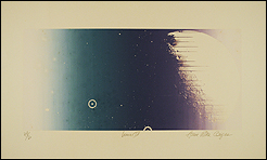 Ana Bella Geiger. Lunar IV, 1973. Fotoserigrafía. 54 x 70 cm. Colección de la artista