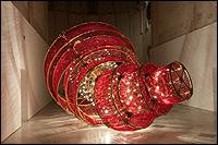 Ai Weiwei. Descending Light (Luz bajando), 2007. Vista de la instalaci�n en el CAAC