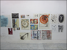 Selection of works made by Alfonso Albacete and Armando Montesinos in the artist's studio for the exhibition Internal Affairs