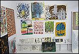 Selección de obras realizada por Alfonso Albacete y Armando Montesinos en el estudio del artista para la exposición Asuntos internos