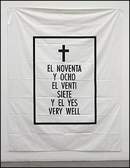 Agustin Parejo School. Serie Sábana Santa, 1990. Impresión sobre tela. 200  x 263.5 cm. Museo Nacional Centro de Arte Reina Sofía