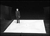 Samuel Beckett en el plató de Quad I + II, Stuttgart, 1981. Foto: Hugo Jehle