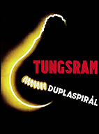 ENDRE VÁNDOR. Tungsram duplaspirál (Tunsgram espiral doble) [1935]. 126 x 95 cm.