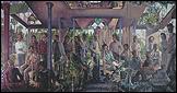 Guillermo Pérez Villalta. Grupo de personas en un atrio o alegoría del arte y de la vida o del presente y el futuro (1975-1976). MNCARS