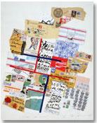 """Robert Rehfeldt: """"Signes sur Temps"""" [Signos sobre tiempo], 1989, 100 x 70 cm"""
