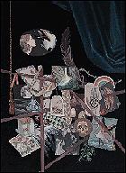 Mariajosé Gallardo. Sin título (serie 'No sine sole iris'), 2013. Técnica: óleo y esmalte sobre lienzo