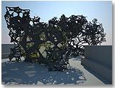 The Morning Line: Preliminary study. Matthew Ritchie, Aranda/Lasch & Daniel Bosia /ARUP AGU. Commissioned by: Thyssen-Bornemisza Art Contemporary. Photo: Lyndon Douglas / Thyssen-Bornemisza Art Contemporary