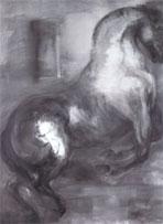 Der Gewaltige, 2002. Óleo sobre lienzo. 250x190 cm (Christa Näher)