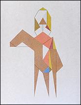 JOSÉ MIGUEL PEREÑÍGUEZ. Djiguit 2, 2013. Lápiz de color sobre papel japonés, 41 x 31,8 cm.