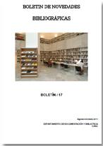 Portada del nº9 del Boletín de Novedades bibliográficas