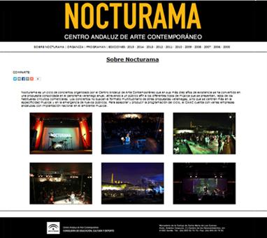 Web oficial de Nocturama