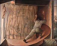 GUILLERMO PÉREZ VILLALTA. El rumor del tiempo, 1984. Óleo sobre lienzo. 200 x 247 cm. Colección CAAC, Junta de Andalucía