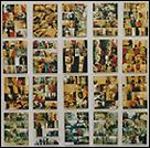 PEDRO G. ROMERO. Sin título (Danza). 20 piezas de 40 x 30 cm cada una. Fotografía pegada sobre madera, manipulada y pintada con resina. Pieza única. 1996