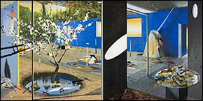 Alfonso Albacete. El jardín japonés, 2009. Acrílico sobre lienzo. 200 x 400 cm. Cortesía del artista