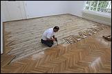 LARA ALMARCEGUI. Removal of the Wooden Floor, Grafisches Kabinett Secession, Vienna, 2010. Photo: Oliver Ottenschläger