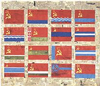 AGUSTÍN PAREJO SCHOOL. Du Côte de l'URSS, 1985. Técnica mixta sobre papel. 177 x 215 cm. Colección Museo de Málaga