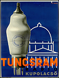 ISTVÁN IRSAI. Tungsram kupolacsö, 1934. Litografía, 126 x 95 cm.