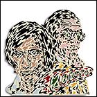 HERMINIO MOLERO. Mi hermano y yo, 1975. Madera troquelada. 46 x 45,5 x 2 cm. Colección particular, Colección Javier Lacruz