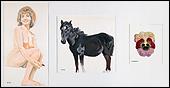 MANOLO QUEJIDO. Matilde disimula un pensamiento, 1974. Acrílico sobre cartulina. 103 x 197 cm. Colección del artista