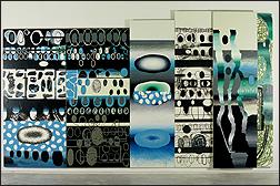 LUIS GORDILLO. Sinfonía Bisagra o la seguridad social. 1993. Acrílico sobre lienzo. Colección CAAC