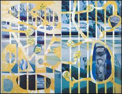 LUIS GORDILLO. Los chinos, 1979. Acrílico sobre lienzo. Colección Fundación Obra Social Monte de Piedad de Madrid