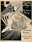 Manuel de Falla. El amor Brujo, Londres, J & W. Chester, 1921. Cubierta de Natalia Goncharova
