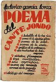 Federico García Lorca, Poema del cante jondo, Madrid, Ulises, 1931. Cubierta de Mauricio Amster