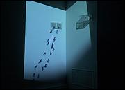 LOTTY ROSENFELD. Moción de orden, 2002. Instalación audiovisual, 11'49''