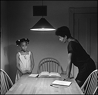 CARRIE MAE WEEMS. Triptych with Daughter left panel (Kitchen Table Portfolio), 1990