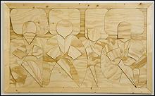 JOSÉ MIGUEL PEREÑÍGUEZ. Shamil y miurids (rompecabezas), 2013. Lápiz sobre papel, 70 x 100 cm