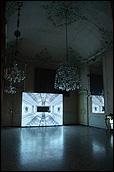 GRAZIA TODERI.  Apollo, 2003. Video-proyección, color, sonido, 19'08''. Vista de la instalación