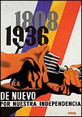 """Josep Renau: """"1808-1936. De nuevo por nuestra independencia"""", 1937"""