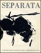 ROBERT MOTHERWELL. Cover of Separata Magazine nº 5-6, spring 1981