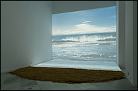 AGNÈS VARDA. Bord de Mer [The Seaside], 2009. Projected photograph, video, sand, 3,6 x 4,8 m. Photo: Guillermo Mendo