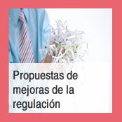 Propuestas de mejoras de la regulación