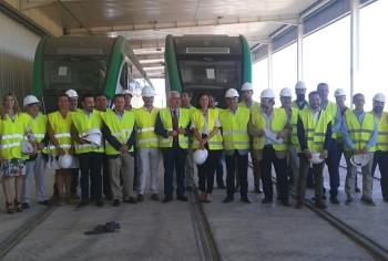 El Tranvía de la Bahía de Cádiz cuenta ya con nuevo edificio de Talleres y Cocheras tras una inversión de 14,7 millones