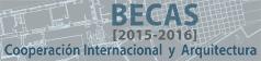 Becas (2015-2016). Cooperación Internacional y Arquitectura