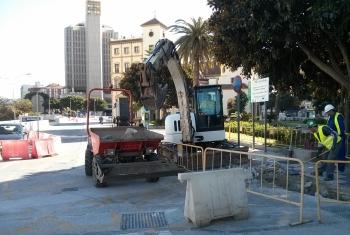 Comienzan los trabajos del tramo Renfe-Guadalmedina del metro entre la estación y el puente de Tetuán