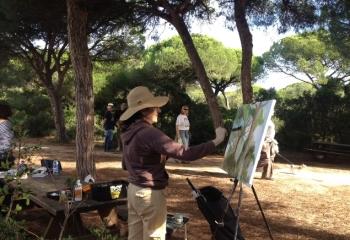 El joven Sergio del Amo, ganador del II Certamen de Pintura Rápida al aire libre en los Toruños