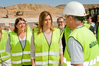 Susana Díaz visita las obras de la variante de Albox, que dará continuidad a 22 kilómetros de la autovía del Almanzora