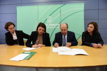 La Consejería de Fomento y el Ayuntamiento de Granada firman la adenda al convenio del metro