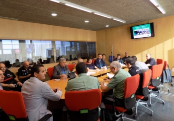 La Junta presenta el protocolo de seguridad y pruebas del Metro de Granada a los servicios de emergencias