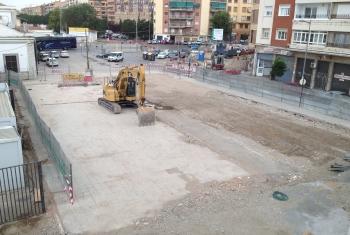 Metro de Granada concluye la demolición de los edificios de Adif anexos a la estación de ferrocarriles