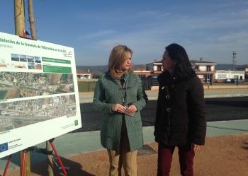 Las obras de remodelación de la travesía de Villarrubia finalizan en marzo